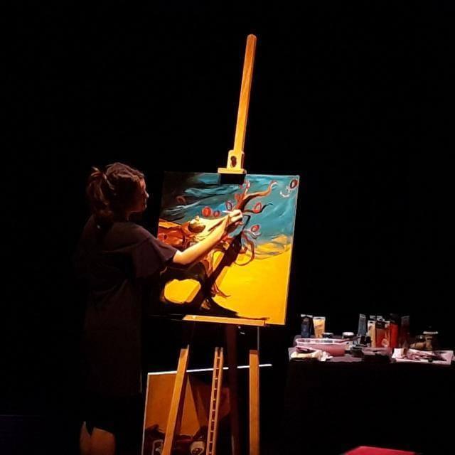 """Live painting in """"LE RIBELLI! Donne che hanno sfidato la mafia o l'hanno scelta"""""""