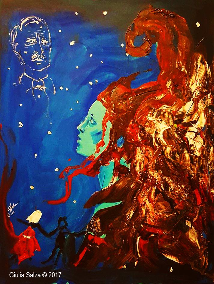 """Live painting in the show: """"VI RACCONTO EMANUELA LOI, scorta di Paolo Borsellino"""""""